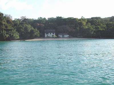 This is a picture of a cove that we stopped at briefly during our Catermerran cruise.