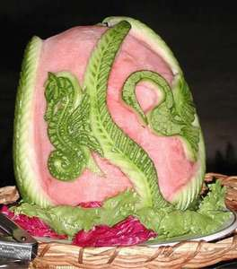 This picture shows the artistic talent of the chef's at Ocho Rios. This was on display for our pool side buffet.