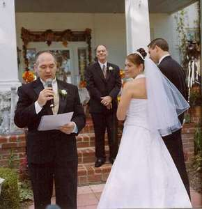 This is a picture of Dad doing his Art of a Marriage reading. Thank you Dad for doing such a terrific job!