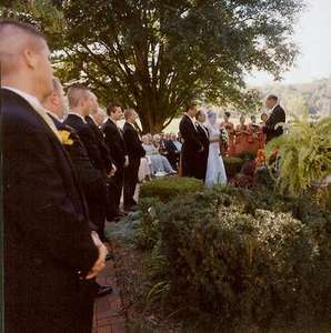 Dad supporting Greg and I just prior to Giving Away The Bride (isn't is supposed to be the other way around?).
