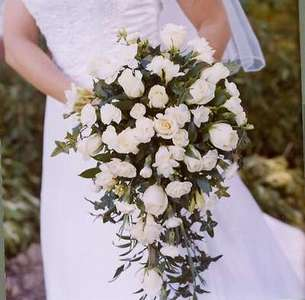 Picture of the Beautiful Bouquet that my Dad picked out (Great Job Dad!).