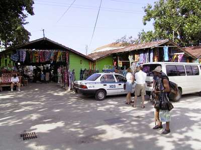 This is one of the pictures of the craft market that we got to stop at quickly on one of our shopping excursions.