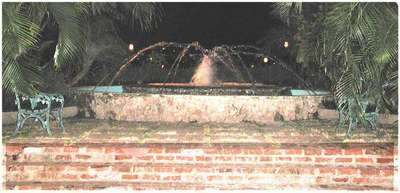 This beautiful fountain is located just outside of the lobby of Couples.