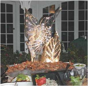 This is a picture of one of the ice sculptures from the pool side buffet.