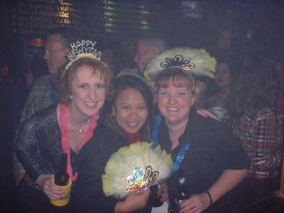Julie, Rina and I ringing in the new year in San Antonio.