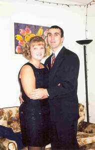 Dave and Alyson's first real date at Purdue. We were going to the 75th anniversary banquet of the organization we were involved in. (October 98)