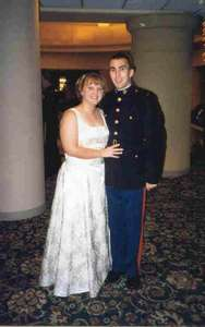 Dave and I at our first Marine Corp Ball.