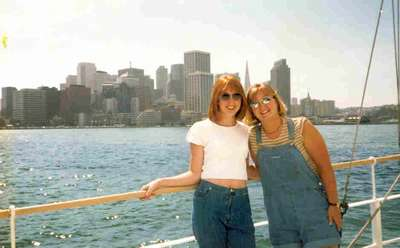 What babes! Julie and Alyson cruzing San Fran Bay with the family in August of 97.