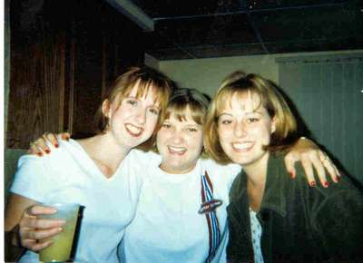 Julie, Lisa and I catching up after a few months away at college. (Taken during our freshman year of college)