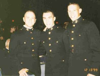 Mike, Dave and Chaz sporting the USMC uniform at the ball.