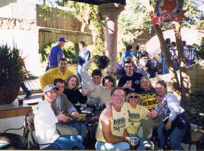 Boiler Up Fans!  The Purdue crew enjoying the drinks and spirit of the day at the Alamo bowl in 98.