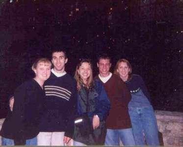 The Alamo bowl gang. Alyson, Dave, Niki, Keith and Julie enjoying the Riverwalk in San Antonio, Texas.