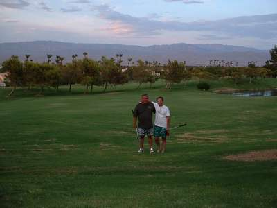 Uncle Mike and my father enjoying a break from the real world in Palm Desert, CA.
