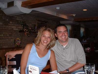 Marc with his fiance Katie. They were engaged in September and will be married in November of 2003.