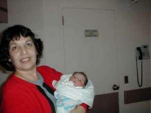 Aunt Carmen (or Grandma Carmen) with newest family member #2 - Anna Margaret