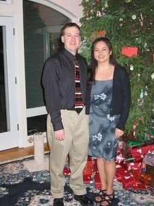 Scott and Kim Christmas 2002 at Scott's parents' house.