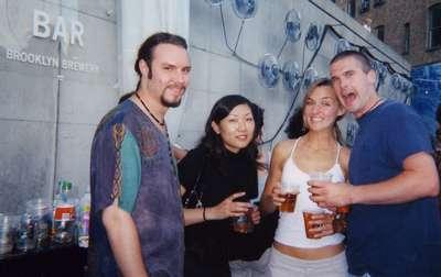 Mike Gallaway (Groomsman), Maki (his girlfriend), Moe, and Mike