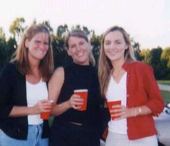 Sara (Bridesmaid), Julie (Matron of Honor), Moe