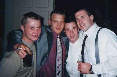 Mikey (Best Man), SteveThe Man (Groomsman), Joe, and Mike