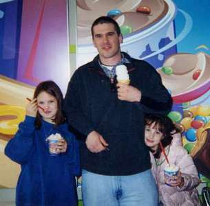 Mike with his nieces Alysha and Lauren