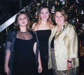 Moe with her Mom and Sister Mary Ann(Bridesmaid)