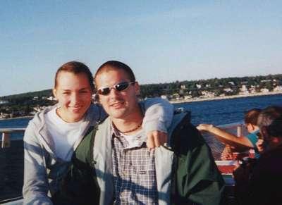 On a ferry to Mackinac Island