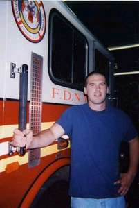 Mike at a Firehouse (Engine 212) in Brooklyn, NY