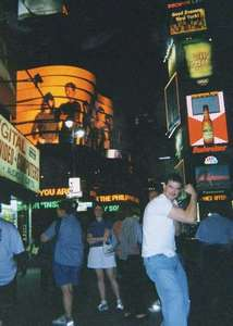Mike in Times Square
