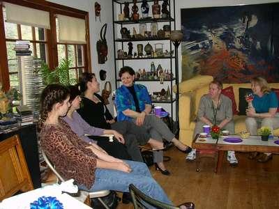 Caroline, Liz, Valerie, Karen, my Mom, and Becky