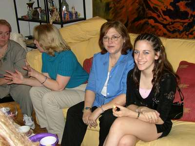 Marcia (Dan's stepmom) and Elisa (Dan's sister and one of my bridesmaids).