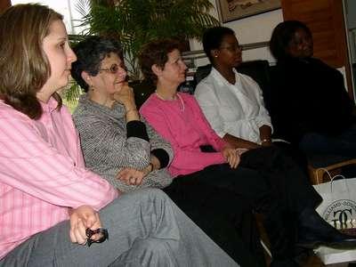 Allison, Tema, Dan's Mom, Karla, and Nikki looking on...