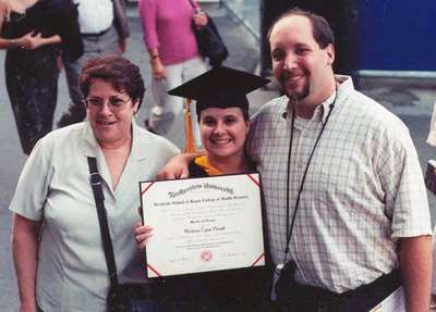 Melissa's graduation from Norhteastern (Hi Mom!)