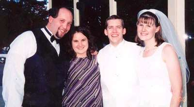 Dave and Melissa at Kevin and Sara's wedding (Oct. 2000)