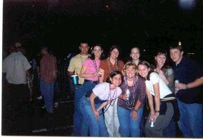 The gangs all here. Girls from my graduate program enjoying Mardi Gras.