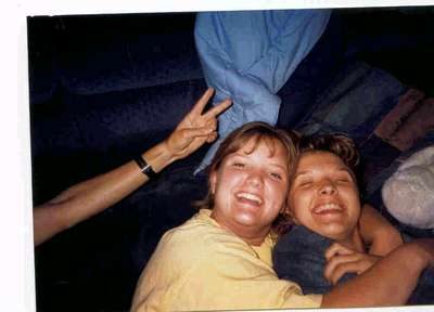 Niki and I being silly on a roadtrip to Sheridan, MI during our senior year at Purdue.