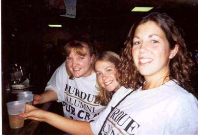 Lindsay, Kristin and I on our senior pub crawl.  What a way to end our 4 years at Purdue.