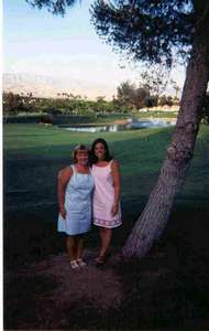 Shannon and I livin it up at the condo in CA.  Isn't that a nice view?