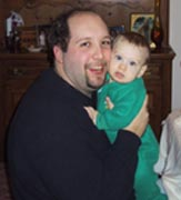 Dave and his adorable nephew Peter cheek-to-cheek