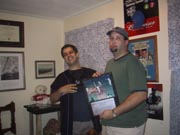 If you look closely, you'll see that Dave is holding a Bill Buckner plaque and he's pouting. Those poor Red Sox!